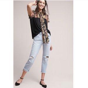 TINY | Kari Floral Neck-Tie Jersey Knit Top